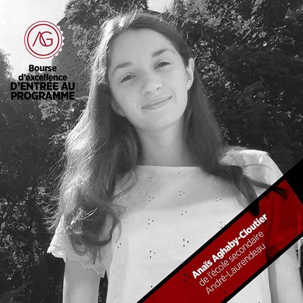 Anaïs Aghaby-Cloutier bourse cégep